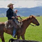 Cowboy and Young Rider